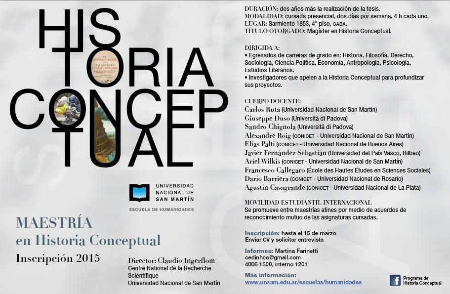 Cartel_Maestria_Historia_Conceptual_UNSAM_2015